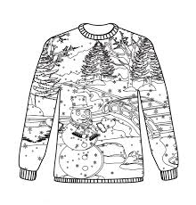 cosy free christmas jumper colouring sheets jumpers