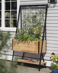 plastic garden planters with trellis theamphletts com