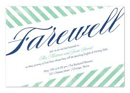 farewell party invitation farewell stripes party invitations by invitation consultants