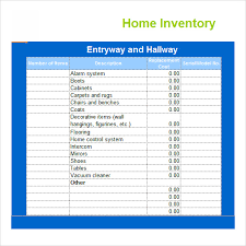 Free Inventory Spreadsheet Template Excel Home Inventory Template Information Guidance Of Property
