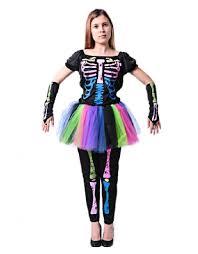 Skeleton Halloween Costumes Adults Rainbow Skeleton Costume Promotion Shop Promotional Rainbow