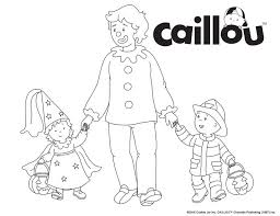 caillou halloween coloring pages u2013 halloween wizard
