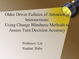 Blindness Chapter Summaries Older Driver Failures Of Attention At Intersections Using Change