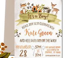 woodland baby shower invitations lillymaedesigns by lillymaedesigns on etsy