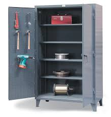 48 Storage Cabinet Strong Hold Products Industrial Storage Cabinet With Pegboard Doors