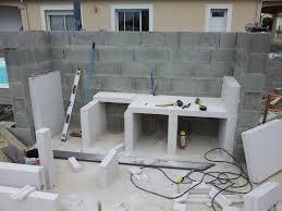 cuisine d ete en beton cellulaire beau plan de travail exterieur en siporex 2 cuisine d233t233
