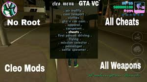 gta vice city android apk no root how to install cleo mod cheats in gta vice city android