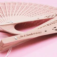 personalized wedding fans personalized sandalwood fan favors palm and bamboo fans