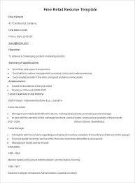 Sales Associate Sample Resume by Free Sample Resume For Retail Sales Associate Online Resume