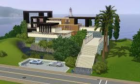 home design story expansion sims 3 modern hillside home by ramborocky on deviantart modern
