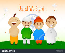 Flag People Indian Flag With Children Clipart Clipground