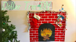 Build Faux Fireplace Dollar Tree Diy Faux Fireplace For Small Apartment Youtube