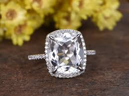 white topaz rings images 5 carat white topaz engagement ring with diamond white gold bbbgem jpg