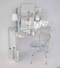 glass vanity table with mirror aphrodite 2 leg mirrored dressing table with crystal accent handles