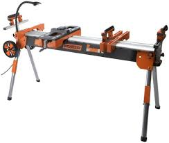 Folding Table Saw Stand Folding Miter Saw Power Tool Stand With Wheels Light Vise And 4