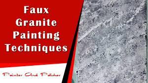 Faux Granite Faux Granite Painting Techniques Youtube