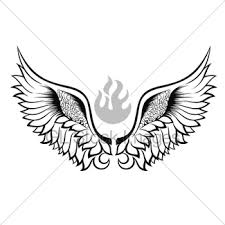 wings tattoo design gl stock images