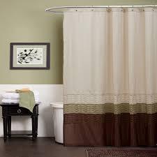 Lush Shower Curtains Lush Decor Shower Curtain Green Brown Home Kitchen