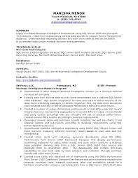 Data Architect Resume Sample by Bi Project Manager Cover Letter