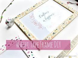 washi tape diy washi tape frame diy petit bout de chou