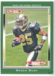 2006 topps total 526 reggie bush new orleans saints rookie