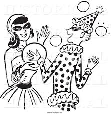 clipart of happy girls dancing at a halloween costume party