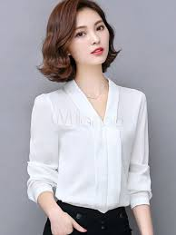 chiffon blouses for white blouse slim fit chiffon blouse for blouse