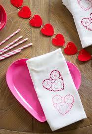 Valentine S Day Bath Decor by Doily Stamped Valentine U0027s Day Tea Towels The Best Gifts Hometalk