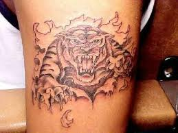 ripped skin tiger design
