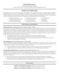 Sample Resume Objectives Teachers by Principal Resume Objective Musidone Com