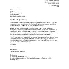 cover letter new graduate nursing cover letter cover letter for