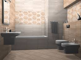Luxurious Bathrooms by Warm Natural Colors With Combination Of Floral Motives Perfect