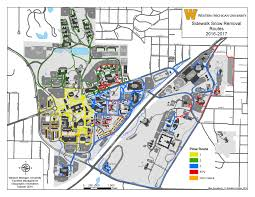 University Of Michigan Parking Map by Snow Removal Facilities Management Western Michigan University