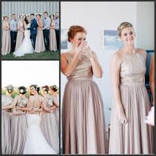 sequin top bridesmaid dresses 2017 chagne length bridesmaid dresses with gold
