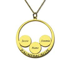 necklace personalized engraved couples pendant with kids name disc necklace personalized