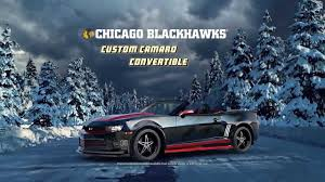 chevy drives chicago blackhawks camaro road to the top chicago blackhawks custom camaro convertible