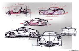 porsche mission e sketch design story diving into the creation of the alfa romeo 4c
