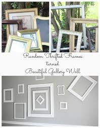 Gallery Wall Frames by Random Thrift Store Frames Turned Cohesive Gallery Wall Re Fabbed