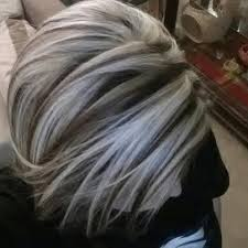 grey hair with highlights and low lights for older women ny hair company las vegas nv united states chunky platinum