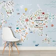 world map wallpaper u0026 atlas wall murals murals wallpaper