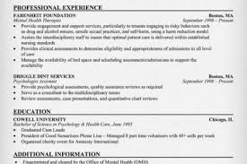 Nursing Resume Examples With Clinical Experience by Nursing Resume S Les On Behavioral Health Technician Resume Sample