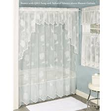 Seashell Shower Curtains Seashells Lace Shower Curtain