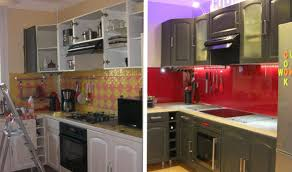 cuisine avant apr鑚 carrelage repeint avant apres avec avant apr s relooker sa cuisine