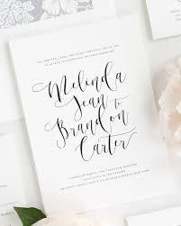 wedding invitations calligraphy flowing calligraphy ribbon wedding invitations ribbon wedding