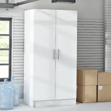 storage cabinets with doors and shelves garage storage cabinets shelves you ll love wayfair