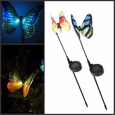 2016 new garden ornaments solar powered lawn l butterfly with