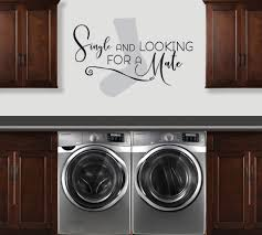 single and looking sock decal laundry room decal vinyl thingz single and looking sock sign laundry room wall decal