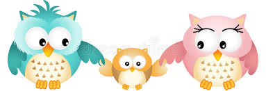 owl family stock vector illustration of 32517877