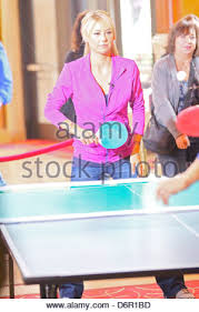 table tennis los angeles anna kournikova playing table tennis at the grove los angeles stock