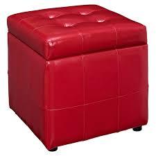 modway volt leatherette storage ottoman multiple colors walmart com